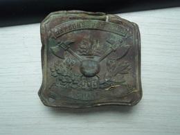 Ancien Boucle De Pompier Impactée Commune De Coisy - Somme - Nominative. - Equipement