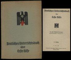 3. Reich - DR Rotes Kreuz Unterrichtsbuch , Erste Hilfe , 147 Seiten , SS Standartenführer Dr. Med. Krueger: Gebraucht - Briefe U. Dokumente