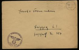 3. Reich - DR Schlesien  RAD Lager 16 / 50 Weibliche Jugend Dienstpost Briefumschlag : Gebraucht Mit Landpost Stempel - Allemagne
