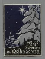 3. Reich - DR Weihnachten Vignette , Reichsauschuss Für Volkswirtschaftliche Aufkärung , Berlin: Ungebraucht Mit Origi - Briefe U. Dokumente