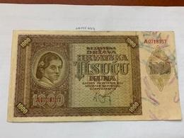 Croatia 1000 Kuna Banknote 1941 - Croatia
