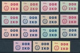 DDR Dienstmarken C 1/15 ** Mi. 40,- - Dienstpost