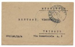 DA TRIESTE PER CITTA' - 1.9.1945. - 6. 1946-.. Repubblica
