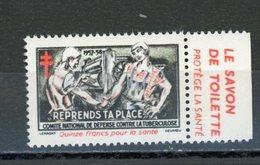 CONTRE LA TUBERCULOSE 1957/58 - Antituberculeux