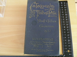 CATALOGUE YVERT ET TELLIER DE 1927 / VOIR DETAIL - Sellos
