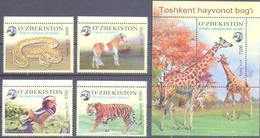 2019. Uzbekistan, Zoo Of Toshkent, 4v + S/s, Mint/** - Uzbekistan