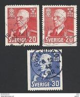 Schweden, 1943, Michel-Nr. 297-298 C+D, Gestempelt - Used Stamps