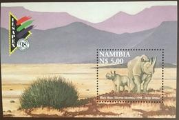 Namibia 1998 Rhino Animals Minisheet MNH - Rhinozerosse