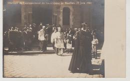 Allier MOULINS Carte Photo Souvenir Du Couronnement Du Sacré-Coeur De Moulins 28 Juin 1908 - Moulins