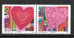 Suède 2000 2140/2141 Neufs En Paire Saint Valentin - Suecia