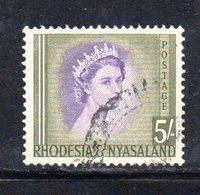 APR2128 - RHODESIA NYASALAND 1954 ,  Yvert N. 13  Usato  (2380A) - Rhodesia & Nyasaland (1954-1963)
