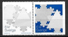 Suède 2000 2189/2190 Neufs En Paire Noël Cristaux De Neige - Suecia