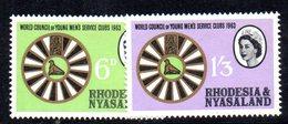 APR2130 - RHODESIA NYASALAND 1963 ,  Yvert N. 49/50   ***  MNH (2380A) - Rhodesia & Nyasaland (1954-1963)