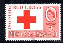 APR2131 - RHODESIA NYASALAND 1963 ,  Yvert N. 48   ***  MNH (2380A)  Croce Rossa - Rhodesia & Nyasaland (1954-1963)