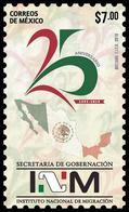2018 MÉXICO 25 Años Del Instituto Nacional De Migración MNH  National Institute Of Migration, MAP - Mexico