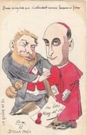 CPA Peinte à La Main Caricature Satirique JAURES Cardinal Tirage Limité 3/50 La Guêpe N° 51 Illustrateur (2 Scans) - Personnages
