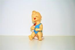 PIEPER POUET SQUEAKY: LEDRAPLASTIC BABY BEBE BOY - L=18  - ***  - M DEP ELEPHANT ITALY  - Rubber - Vinyl - 1960's - Schtroumpfs