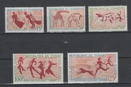 (S0008) CHAD, 1967 (Rock Paintings). Mi ## 189-193. MNH** - Chad (1960-...)