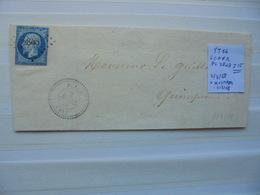 Francia. Marcophilie. YT 14 Isolé. Description. 3 Photos - Postmark Collection (Covers)