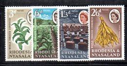 APR2132 - RHODESIA NYASALAND 1963 ,  Yvert N. 44/47   ***  MNH (2380A)  Tabacco - Rhodesia & Nyasaland (1954-1963)