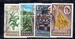 APR2133 - RHODESIA NYASALAND 1963 ,  Yvert N. 44/47   Usata (2380A)  Tabacco - Rhodesia & Nyasaland (1954-1963)