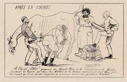 CPA Caricature Satirique COMBES / PELLETTAN Bloc Cheval De Course Clystère Illustrateur A. DEMASRES (2 Scans) - Satira
