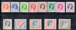 APR2134 - RHODESIA NYASALAND 1954 ,  13 Valori Diversi Usati (2380A) - Rhodesia & Nyasaland (1954-1963)