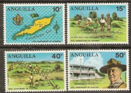Anguilla  1970 SG  76-9   Anniversary Of Scouting   Mounted Mint - Anguilla (1968-...)