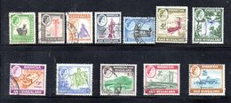 APR2135 - RHODESIA NYASALAND 1959 ,  13 Valori Diversi Usati (2380A) - Rhodesia & Nyasaland (1954-1963)