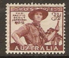 Australia 1952 SG  254  Scout Jamboree  Unmounted Mint - 1937-52 George VI
