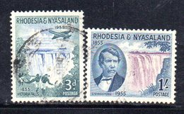 APR2136 - RHODESIA NYASALAND 1955 ,  Serie Yvert N. 16/17 Usati (2380A) - Rhodesia & Nyasaland (1954-1963)