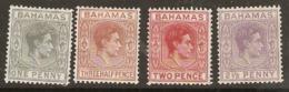 Bahamas  1938 Various Values Mounted Mint - Bahamas (1973-...)