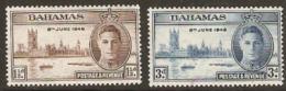 Bahamas  1946  SG 176-7 Victory  Mounted Mint - Bahamas (1973-...)