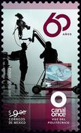 2019 MÉXICO  60 Años Canal Once, COMUNICACIÓN TV CINE MNH 60 Years Of Channel Eleven COMMUNICATION, TV. MOVIE THEATER - Mexico
