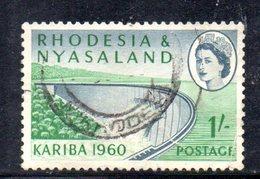 APR2137 - RHODESIA NYASALAND 1960 ,   Yvert N. 35 Usato (2380A) - Rhodesia & Nyasaland (1954-1963)