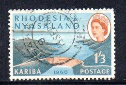 APR2138 - RHODESIA NYASALAND 1960 ,   Yvert N. 36 Usato (2380A) - Rhodesia & Nyasaland (1954-1963)