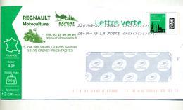 Pap Monument Paris Flamme Chiffree Sous Code Symbole Inegalite Illustré Motoculture Regnault  Tondeuse - Prêts-à-poster:  Autres (1995-...)