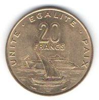 Gibuti Djibuti 20 Francs 1991 - Dschibuti