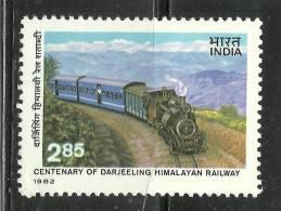 INDIA,1982, Darjeeling Himalayan  Railway Centenary,MNH,(**) - Trenes