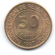 Peru 50 Centimos 1987 Grau - Perú