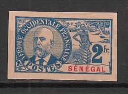 Sénégal - 1906 - N°Yv. 45a - Ballay 2f - Non Dentelé / Imperf. - Neuf (*) / MNG - Senegal (1887-1944)