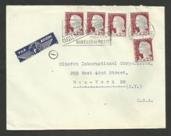 Lettre Avion >>> U.S.A. / PARIS 25.08.1961 - 1960 Marianne De Decaris