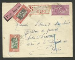 Lettre Avion >>> PARIS / SAINT LOUIS 14.04.1933 - Lettres & Documents