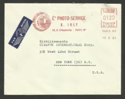"""EMA """" Ets PHOTO - SERVICE """" PARIS 10e / 1961 /machine N 1925 - Marcophilie (Lettres)"""