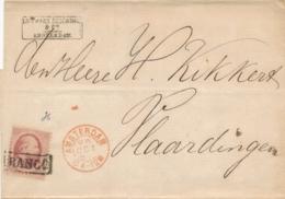 Nederland - 1867 - 10 Cent Willem III, 2e Emissie - Enkelfrankering Op Omslag Van Amsterdam Naar Vlaardingen - 1852-1890 (Wilhelm III.)