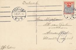 Nederland - 1927 - 2(+2) Cent Kinderzegel 1926 - Enkelfrankering Als Drukwerk Van Haarlem Naar Amersfoort - Briefe U. Dokumente