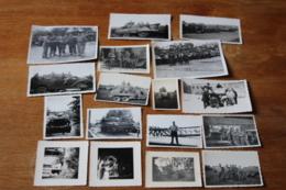Lot De Photographies Ancienens Armée Française  Char Vehicules Automitrailleuses... - Guerra, Militari
