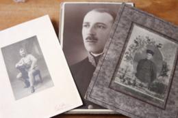 3 Photos Militaires Anciennes  Poilu , Zouave, Medaillé - Guerra, Militari