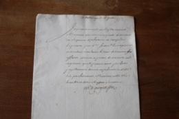 1753  Autographe D'Argenson   Infanterie Du Languedoc - Autographs