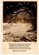 Gesegnetes Neujahr - Winterlandschaft Und Spruch 1956 - Neujahr